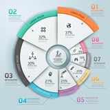 Modern business Infographics circle origami style.