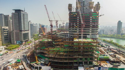 Seoul City Lotte World Tower Construction