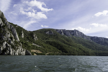 Danube pass through Iron Gates Natural Park