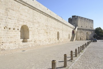 Castle, Aigues Mortes, southern France.