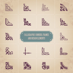 Calligraphic corners, frames and design elements