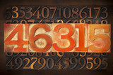 numerical abstract background