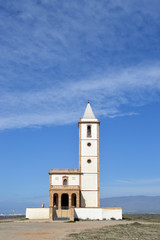 Church of Las Salinas, Cabo de Gata, Almeria, Spain