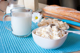Dairy products: cottage cheese, milk and bulgarian cheese, and b