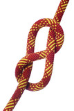 Eight knot on climbing rope