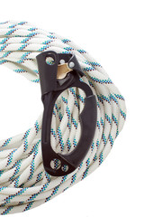 Handled ascender lying on climbing rope
