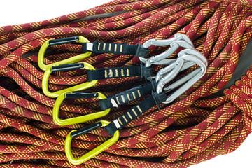 Set of climbing quickdraws