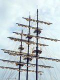 ship's mast and sail