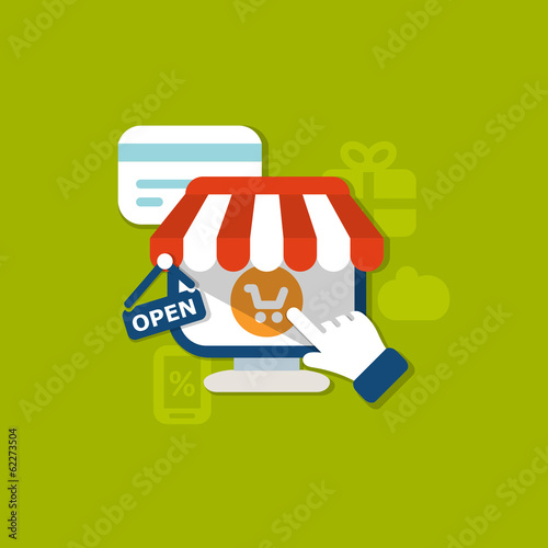 flat shopping background