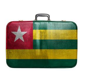 Vintage travel bag with flag of Togo