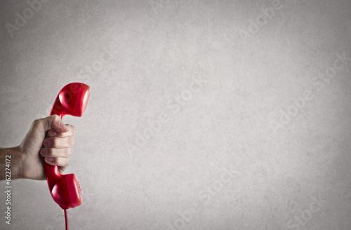 Leinwanddruck Bild telephone