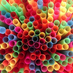 colors of top view straws
