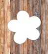 canvas print picture - Holz Blume