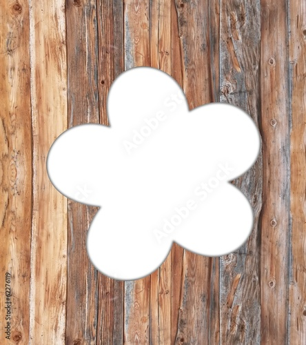 canvas print picture Holz Blume
