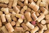 Background texture of used wine corks