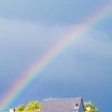 Rainbow over House