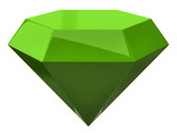 Green illustration of diamond