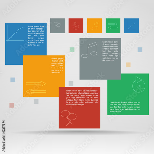 Vector template of infographics