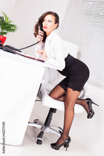 canvas print picture Sexy secretary