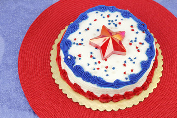 July 4th Decorated Cake