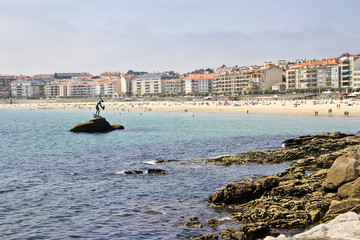 Silgar beach on Sanxenxo