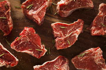 Raw Red Lamb Chops