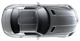 Silver roadster - top view