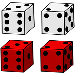 Cartoon Dice