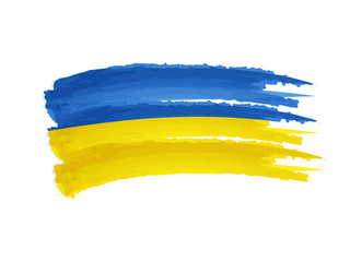 Ukrainian flag drawing