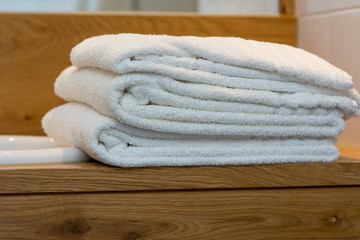 stack of hotel towels