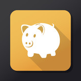 Piggy bank flat icon. Vector