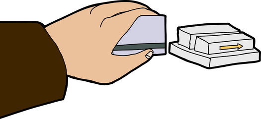 Card Swiping Close Up