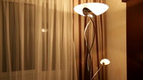 Beautiful floor lamp in a hotel room