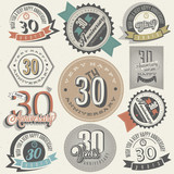 Vintage style 30 anniversary collection