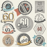 Vintage style 60th anniversary collection