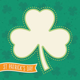 st patricks day background with shamrock leaf text frame
