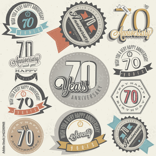 Vintage style Seventy anniversary collection