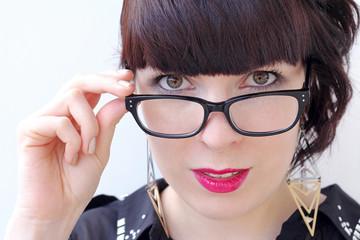 Der Blick über die Brille