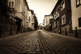 old street in the center of Veliko Tarnovo, Bulgaria