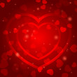 Romantic background template with red hearts