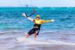 young smiling  kitesurfer  Extreme Sport Kitesur