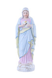 Virgin Mary vintage porcelain statue