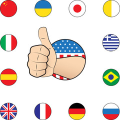 Thumb up nations