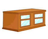 cabinet isolated illustration
