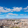 Alicante skyline aerial from Santa Barbara Castle Spain