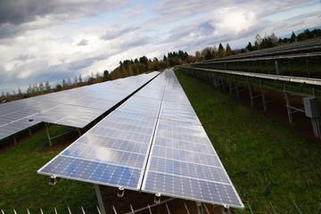 Bank Amorphous Solar Panels Green Renewable Energy Sun Power