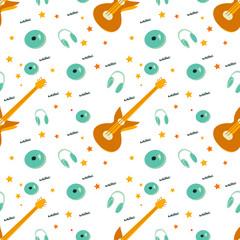 seamless pattern with music symbols