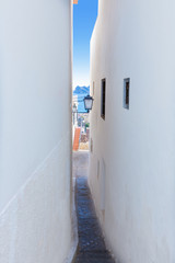 Altea old village white narrow street typical Mediterranean