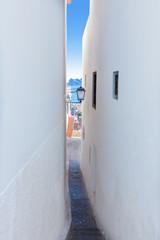 Altea old village white narrow street typical Mediterranean
