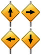 Four arrow signs